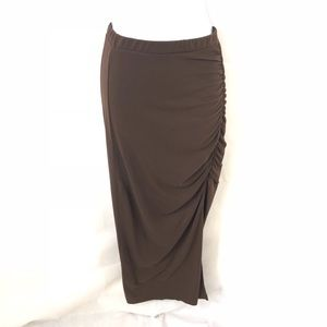American Rag fitted ruched medi skirt S